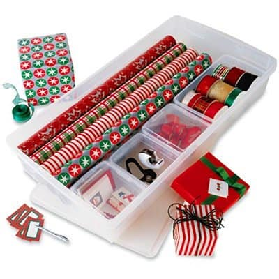 custom gift wrap storage center from the container store christmas decoration storage ideas made