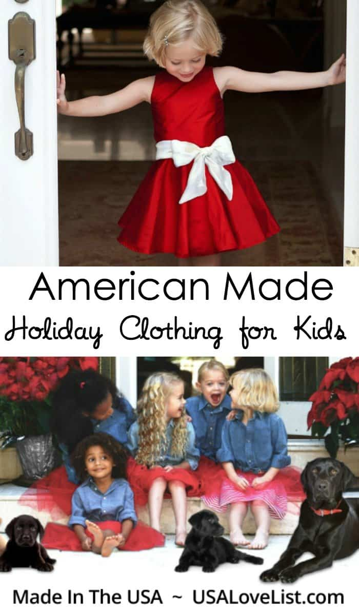 5f276bbd American Made Holiday Clothing For Kids • USA Love List