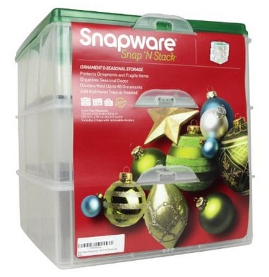Snapware ornament storage | Christmas decoration storage containers | Made in USA