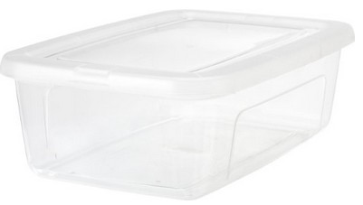 Isis Clear plastic shoe boxes- perfect for storing ornaments   Christmas decoration storage ideas   Made in USA