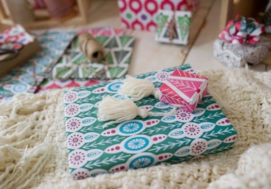 Wrappily makes American made recyclable, compostable, reversible wrapping paper we love!
