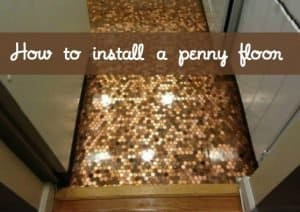 How to install a penny floor | Penny and epoxy DIY