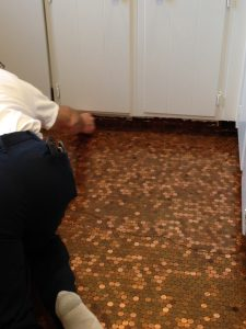 How To Install A Copper Penny Floor A Made In Usa Diy Project Usa Love List