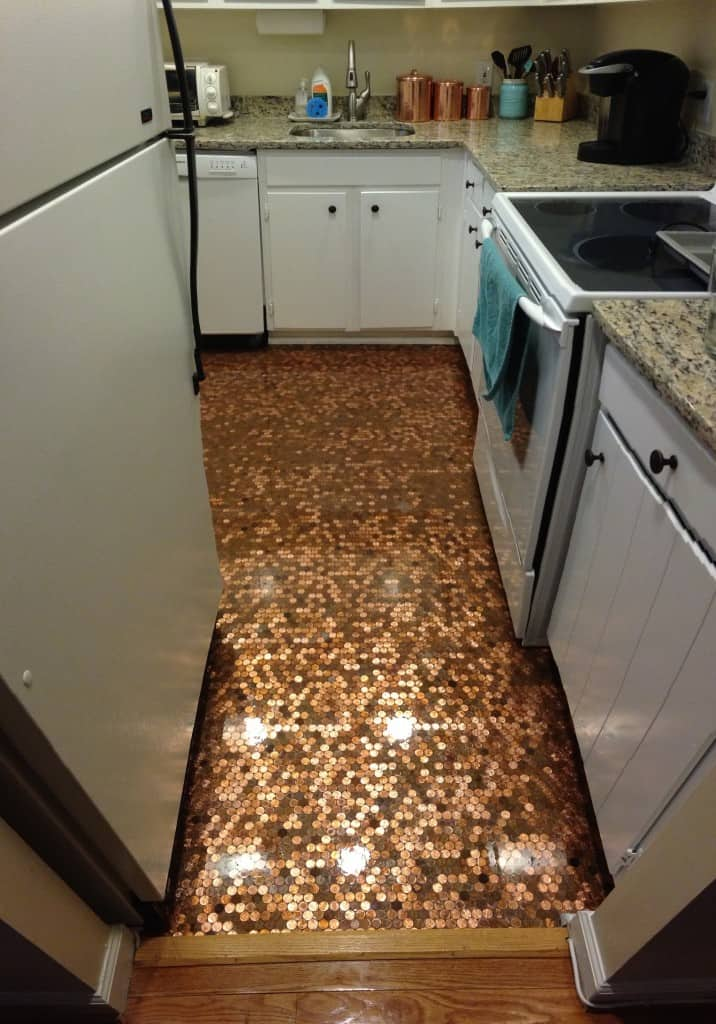 How To Install A Copper Penny Floor A Made In Usa Diy Project