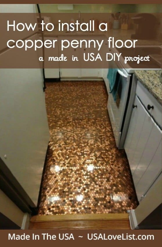 How To Install A Copper Penny Floor Made In USA DIY