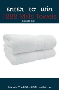 1888 Mills Towels Giveaway Usa Love List