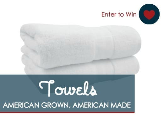 Enter to win a 6 piece set of American Made towels from 188 Mills via USAlovelist.com