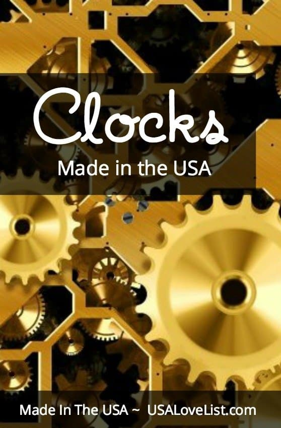 Clocks Made in the USA via USALoveList.com