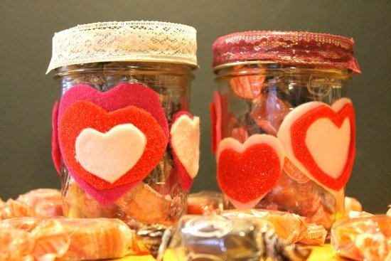 Valentine Candy Jars make perfect teacher gifts!