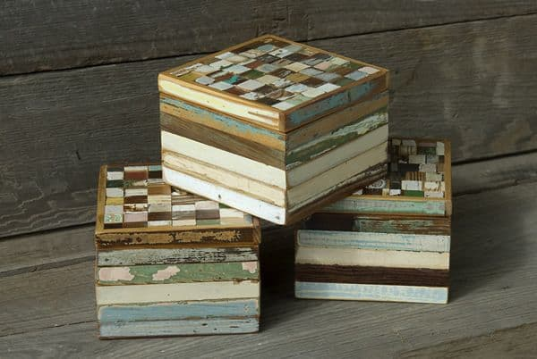 Celebrate Mardi Gras, with Ten Things We Love, Made in Louisiana, Like Salvaged Mosaic Boxes from Bergeron Woodworks