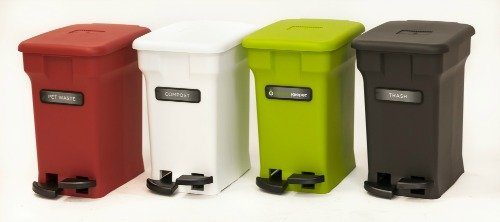 The American made CompoKeeper for easy, odorless kitchen composting