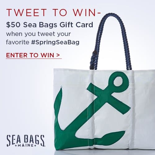 Tweet to win a $50 Sea Bags Gift Card #SpringSeaBag