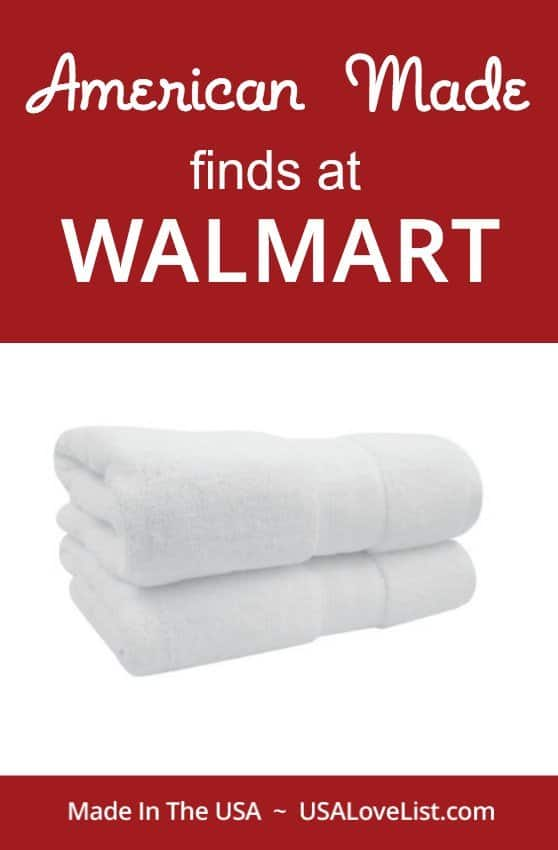 There are some surprising American Made finds at Walmart via USAlovelist.com