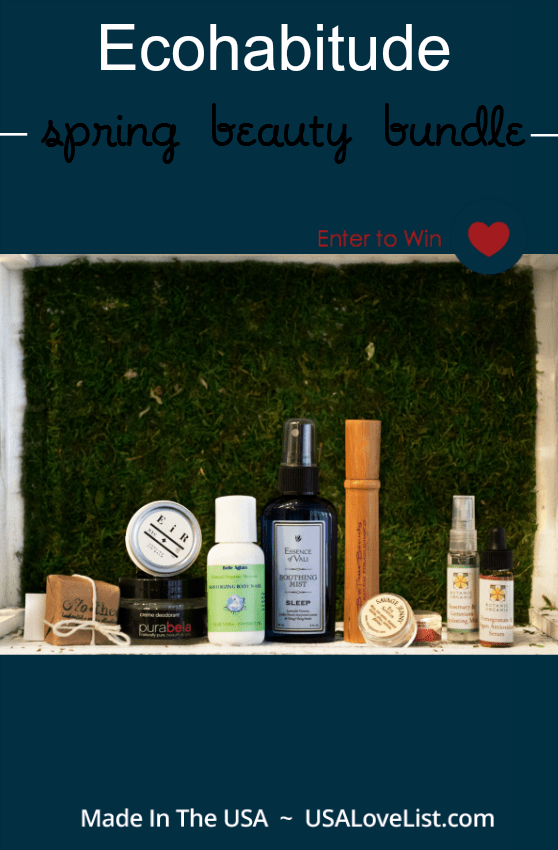 Ecohabitude spring beauty bundle - made in the USA, ethical beauty products.  Enter to win the bundle.