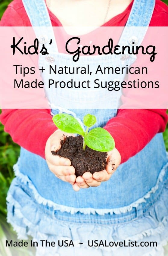Kids' Gardening Tips featuring natural, American made products available at the @earth911 store https://youchange.earth911.com/