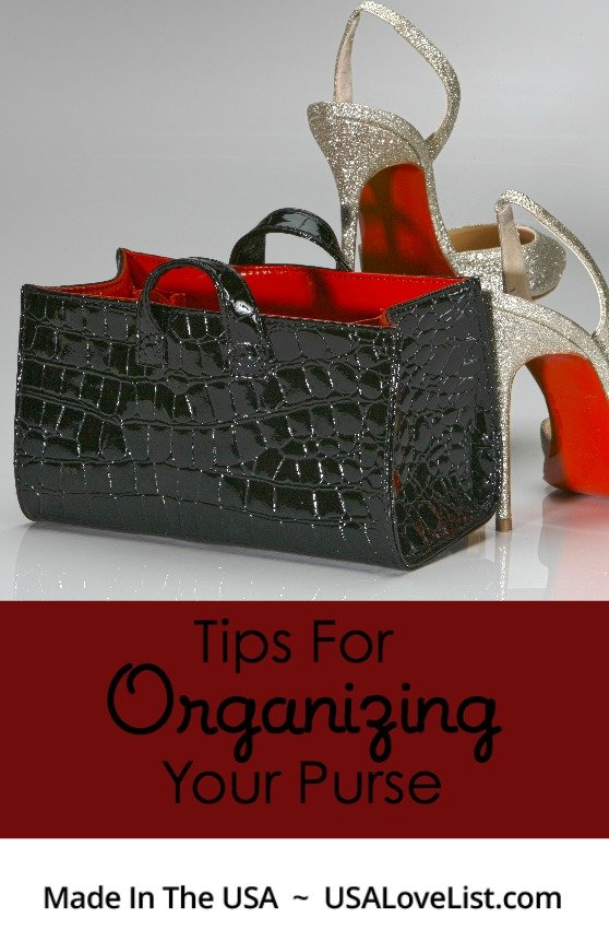 Quick and Easy Tips For Organizing Your Purse via USALoveList.com