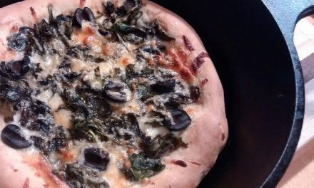 Made in USA Cast Iron Cooking: Spinach Pizza Recipe For National Pizza Month