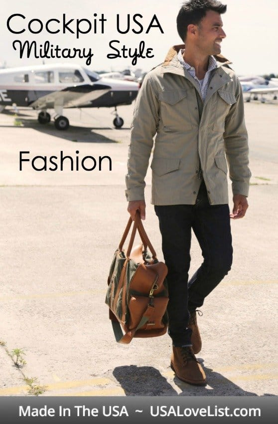 CockpitUSA American Made Military Style Jackets and Bags For Men and Women via USALoveList.com | #AmericanMade #MadeinUSA #Handbags #Veterans #Patriotic #Menswear #Womanswear #Fashion #Style