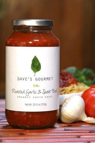 Roasted Garlic & Sweet Basil gourmet pasta sauce #organic #madeinUSA #GarlicLover