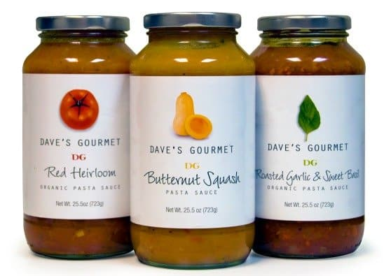 Giveaway: Dave's Gourmet Prize Pack Of Award Winning Pasta Sauces