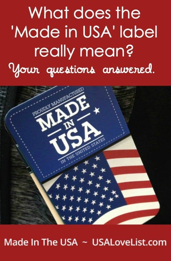 "Have you've ever wondered what qualifies an item to be labeled ""Made in USA'? We have the answer."