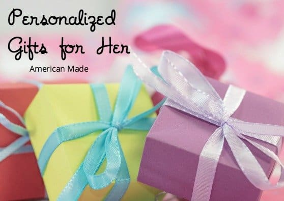 American Made Personalized Gifts for Her