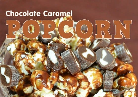 Chocolate Caramel Popcorn Recipe #CowTales
