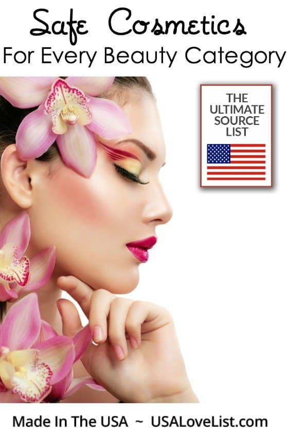 "Ditch your ""dirty"" personal products. Save this list of natural beauty products you can trust, all made in the USA via USAlovelist.com"