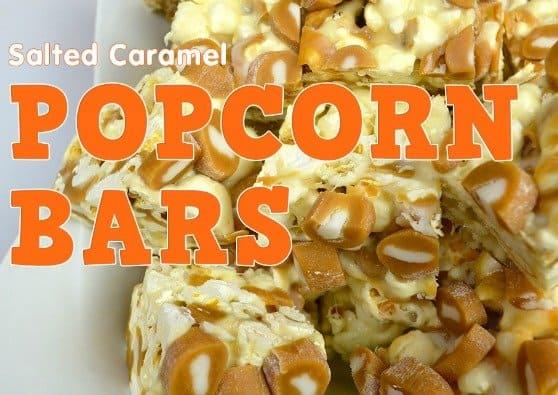 Salted caramel popcorn bars recipe #CowTales #Goetze'sCandyCompany #caramelpopcornrecipe