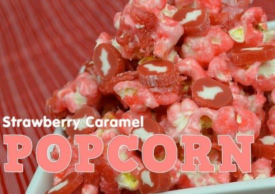 Strawberry caramel popcorn recipe #CowTales