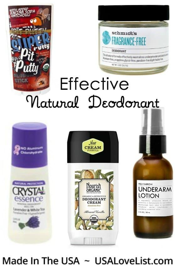 Best Natural Deodorant: Our top picks, all American made #madeinUSA #vegan #organic #naturalskincare #usalovelisted