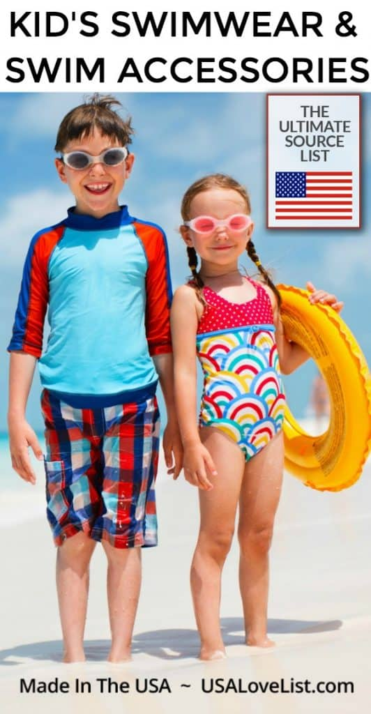 Made in USA Kid's Swimwear and Swim Accessories #usalovelisted