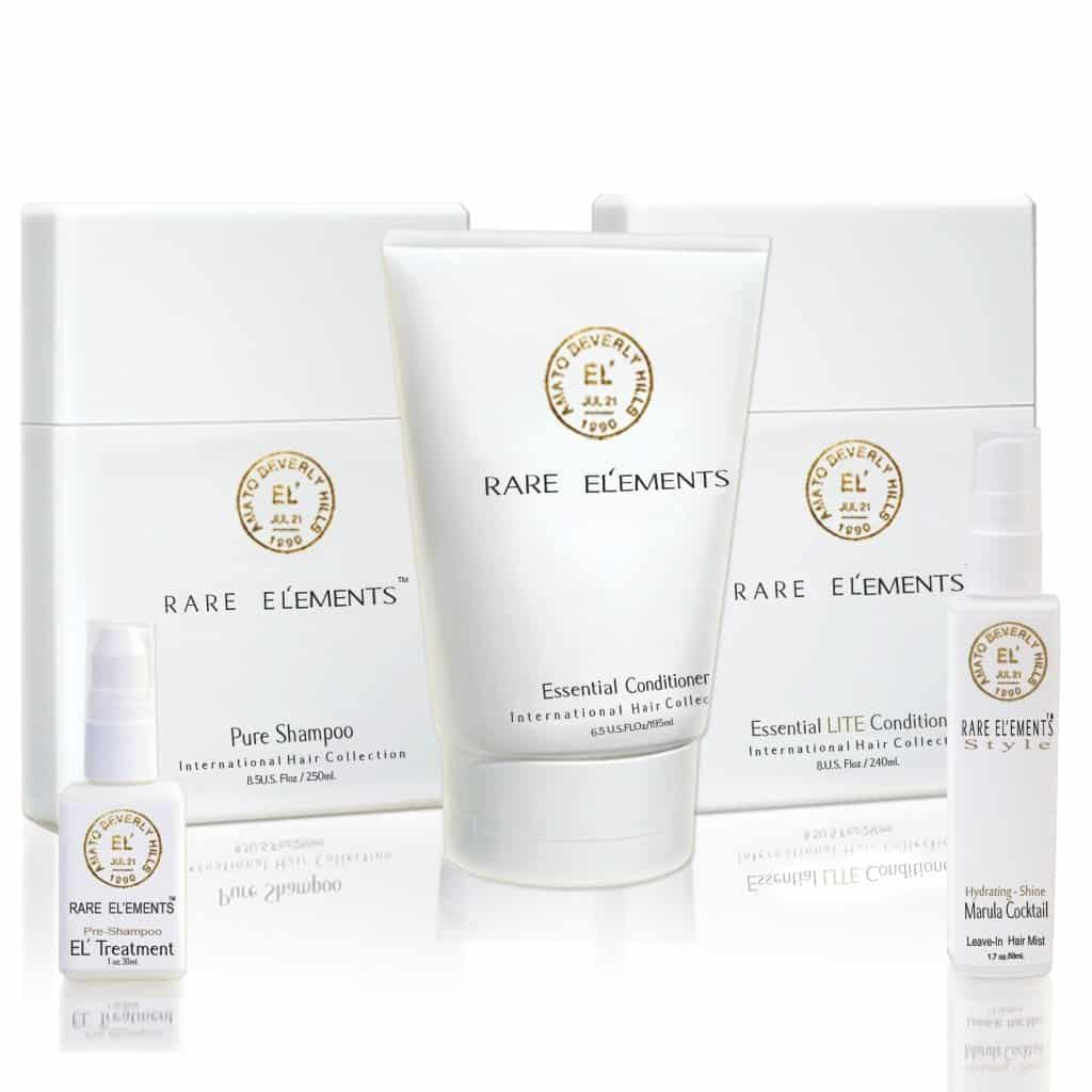 Rare Elements Hair Collection Made From Non Toxic Ingredients Ranking 0 on EWG - American Made Luxury Haircare Products.