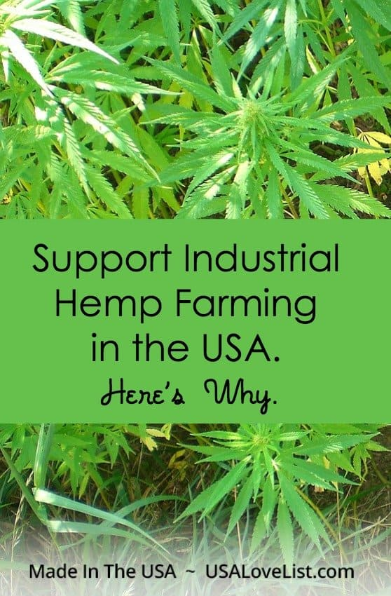 Industrial hemp is not a drug! Hemp farming in the USA needs to be legal again! We tell you why.