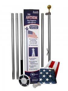 It's hard to find 100% American Made flag poles. Here is and American Made flag and flag pole set.