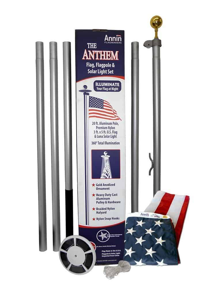 American Flag etiquette: Made in USA flag poles #usalovelisted