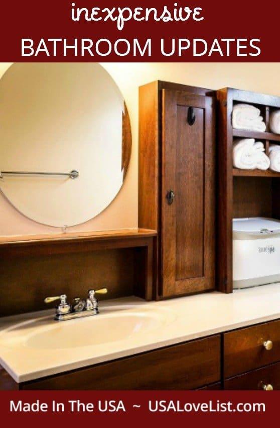 Inexpensive bathroom updates | American made decor | bathroom decorating