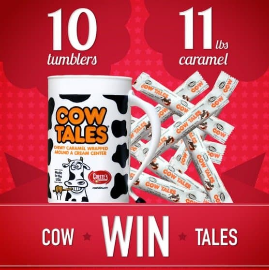 Just in time for an American made Fourth of July! Enter now to win 10 Cow Tales tumblers + 11 POUNDS of Mini Cow Tales! Ends 6/18/15.