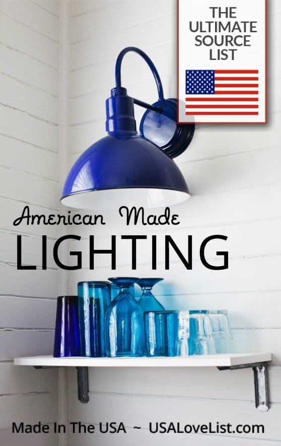 Indoor and outdoor lighting Made in USA lights