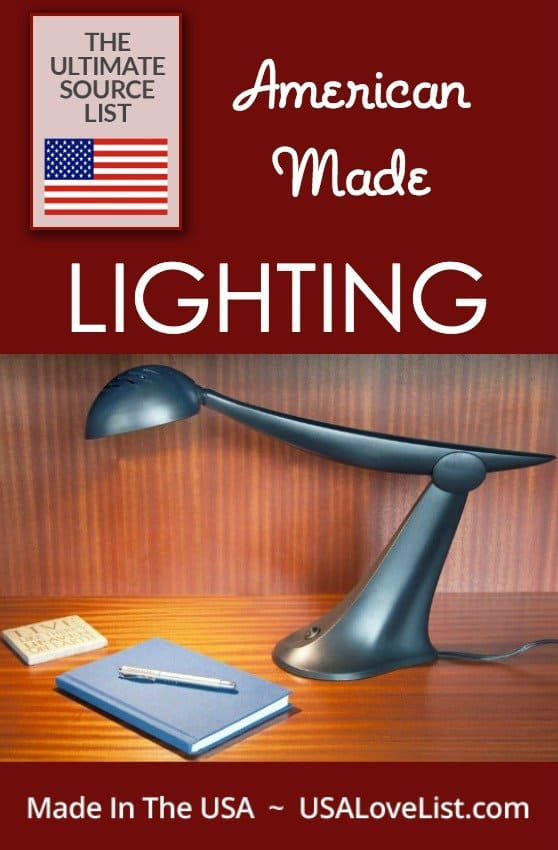 Made in the USA Lighting, the Ultimate source guide for American made lamps, chandeliers, wall ...