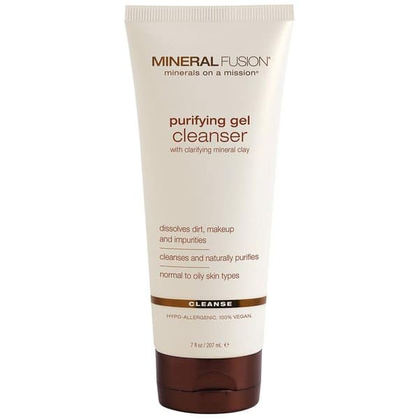 Mineral Fusion Purifying Gel Cleanser for oily skin | Skin care tips | Facial cleansers to use for oily skin