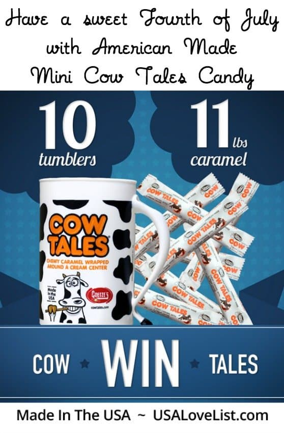 Enter to win 11 pounds of American Made Mini Cow Tales to sweeten up your Fourth of July festivities! (ends 6/18/15)