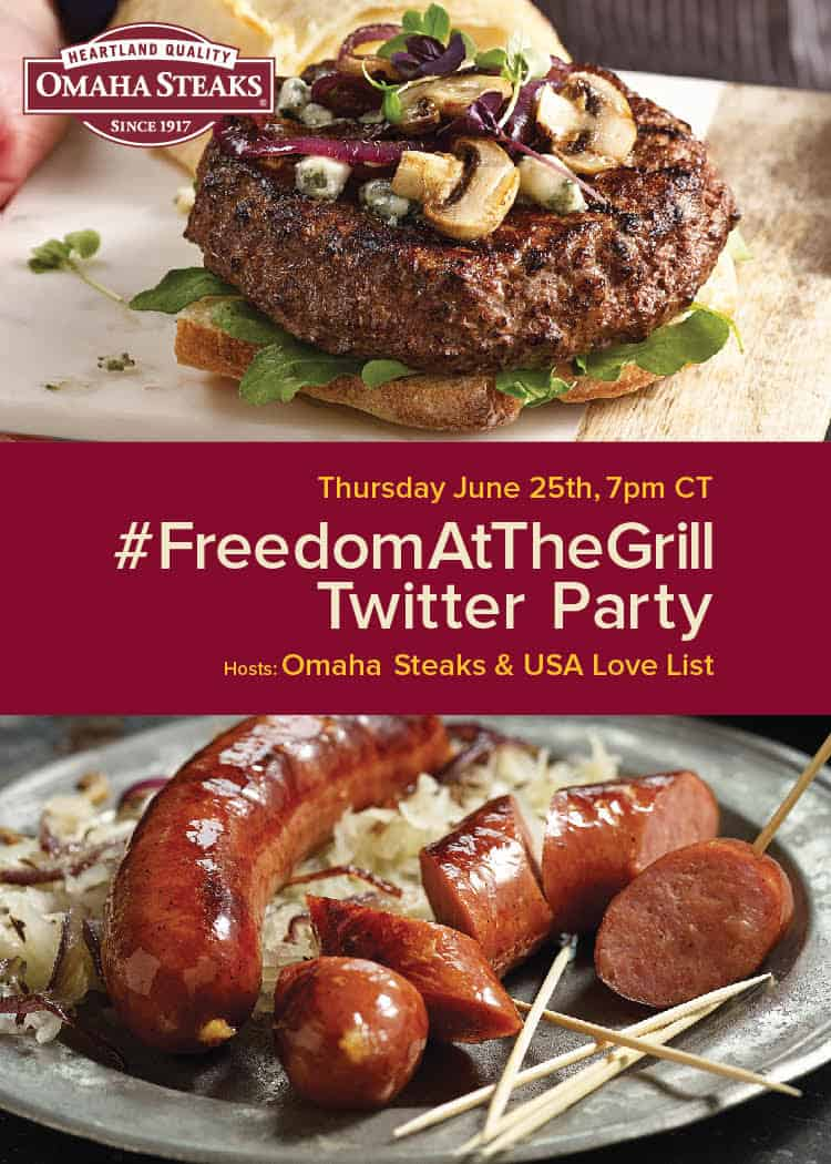 Omaha Steaks Twitter Party via USALoveList.com