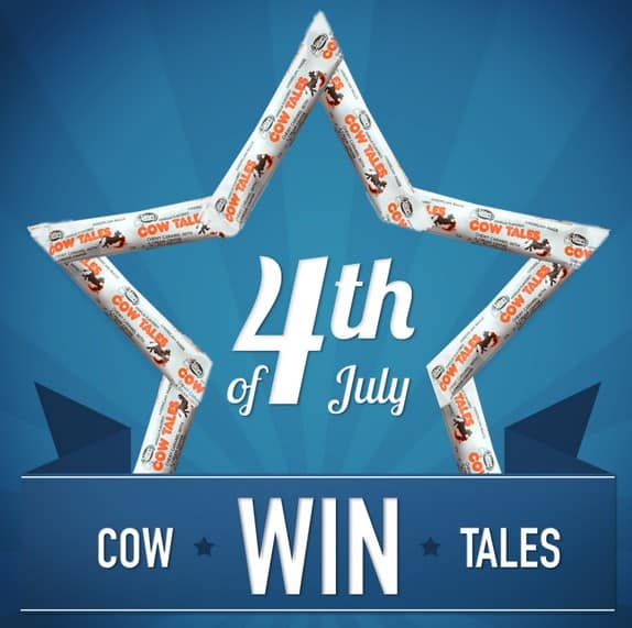 Have an American made 4th of July parade by passing out made in the USA Cow Tales candy! Giveaway ends 6/18/15