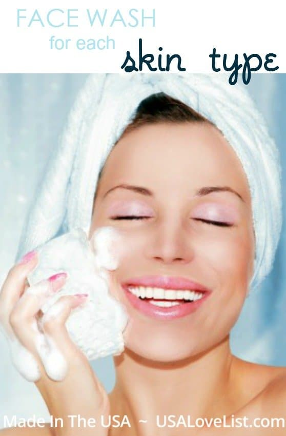 face wash for your skin type - made in the USA facial cleanser