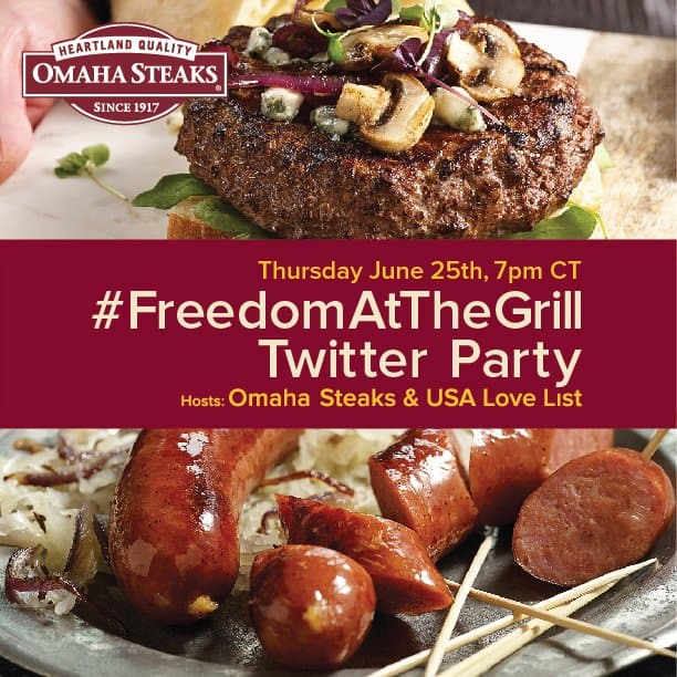 #FreedomAtTheGrill Omaha Steaks Twitter Party