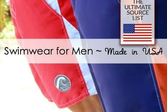 Made in USA Men's Swimwear: A Source Guide