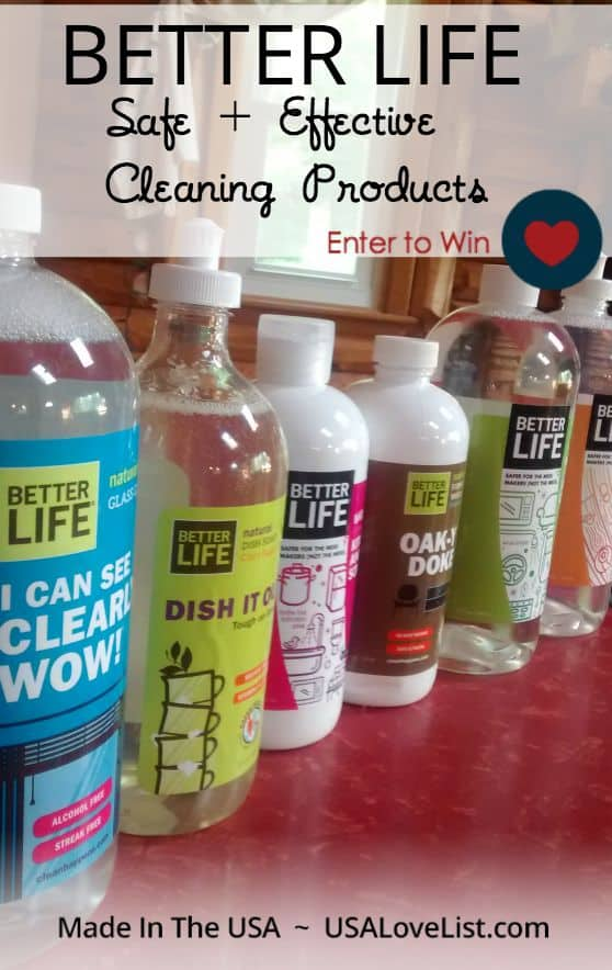 Better Life Safe and Effective Cleaning Products | American Made | Giveaway ends 7/30/15