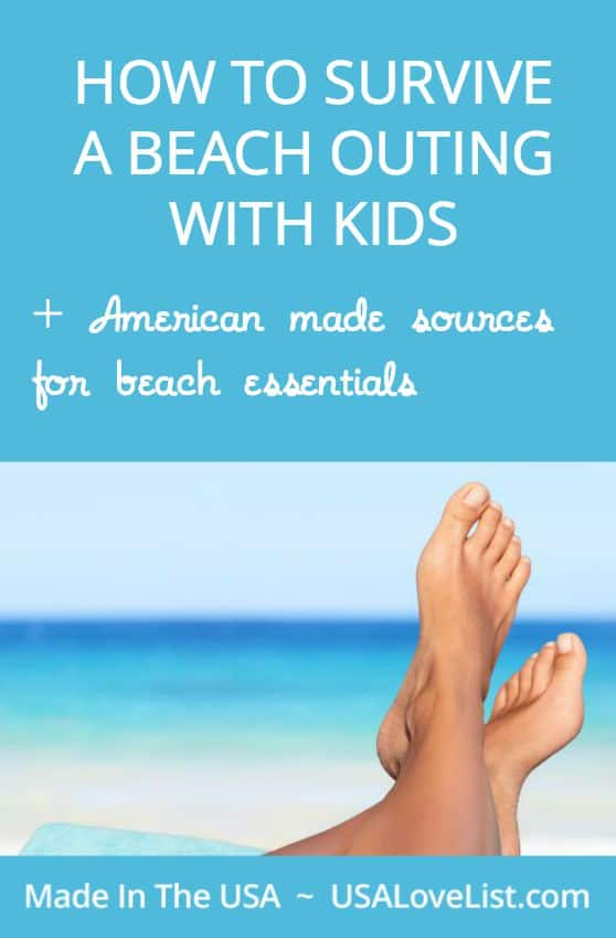 Needed beach gear and tips on how to make an outing to the beach with kids stress free