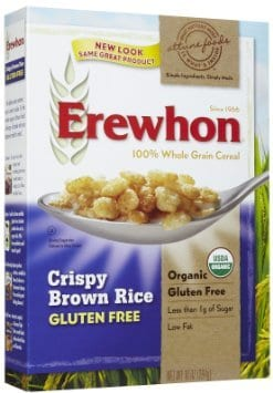 American Made Gluten-Free Snacks and Meals from USALoveListlcom including Erewhon Crispy Brown Rice Cereal